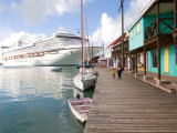 Golden Princess Cruise Ship Docked in St. John's, Antigua, Caribbean Photographic Print by Jerry & Marcy Monkman