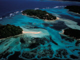 Aerial View of Ste Anne Marine National Park, Seychelles Photographic Print by Nik Wheeler