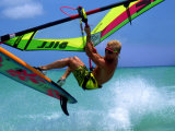 Windsurfing Jumping, Aruba, Caribbean Photographic Print by James Kay