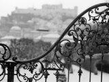 View of the Old City and Castle, Salzburg, Austria Reproduction photographique par Walter Bibikow
