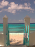 Front Street Gate on Grand Turk Island, Turks and Caicos, Caribbean Fotoprint van Walter Bibikow
