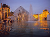 Louvre Pyramid, Paris, France Photographic Print by David Barnes