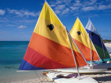 Sailboats on the Beach at Princess Cays, Bahamas Fotografie-Druck von Jerry & Marcy Monkman
