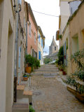 Narrow Cobblestone Street, Arles, Provence, France Photographic Print by Lisa S. Engelbrecht