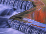 Bond Falls with Fall Color Reflections, Bruce Crossing, Michigan, USA Photographic Print by Claudia Adams
