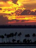 The Sun Sets Over the Bay of San Juan, Puerto Rico Fotografisk trykk