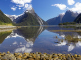Mitre Peak, Milford Sound, Fiordland National Park, South Island, New Zealand Photographic Print by David Wall
