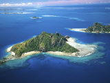 Aerial of Maolo Island, Mamanuca Islands, Fiji Photographic Print by David Wall
