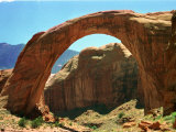 Rainbow Bridge National Monument is a Star Attraction at Lake Powell on the Utah Side Photographic Print