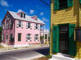 Colorful Loyalist Home, Governor's Harbour, Eleuthera Island, Bahamas Fotoprint van Greg Johnston