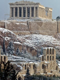 The Ancient Parthenon and Herod Atticus Theater on the Acropolis Hill Photographic Print