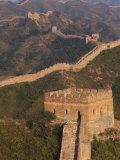 Great Wall at Sunset, Jinshanling, China Fotoprint van Keren Su