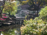 Landscape of Traditional Chinese Garden, Shanghai, China Photographie par Keren Su