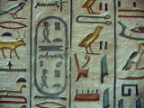 Hieroglyphic Symbols at the Tomb of Amon-her-Khopechef, Egypt Photographic Print by Stuart Westmoreland
