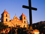 Santa Barbara Mission in Morning Light, Santa Barbara, United States of America Photographic Print by Philip Smith