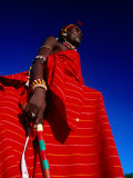 Samburu Warrior, Maralal, Kenya Fotografie-Druck von Tom Cockrem