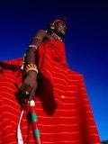 Samburu Warrior, Maralal, Kenya 写真プリント : トム・コックレム