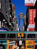Bus on Lavalle St, Pedestrian Mall in Microcentro, Buenos Aires, Argentina Photographic Print by Krzysztof Dydynski