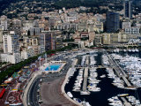 Overhead of Port Hercule, La Condamine and Monte Carlo, Monte Carlo, Monaco Photographic Print by Dallas Stribley