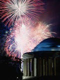 Fireworks Exploding Over Jefferson Memorial, Washington Dc, USA Photographic Print by Johnson Dennis