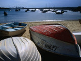 Pleasure Boats on Beach at Watson's Bay with Sydney City Skyline in Distance, Sydney, Australia Photographic Print by Glenn Beanland