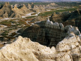 Overhead of Rock Formations From Sheep Mountain Table, SW Badlands, Badlands National Park, U.S.A. Fotografiskt tryck av Mark Newman