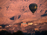 Hot Air Balloon Over the Theban Hills, Luxor, Egypt Photographic Print by John Elk III