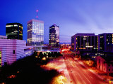 Downtown Skyline at Dusk, Tucson, United States of America Photographic Print by Richard Cummins