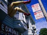 Quirky Shop Front Decoration, Haight Street, the Haight, San Francisco, United States of America Lámina fotográfica por Glenn Beanland