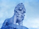 Lion Statue at Westminster Bridge, London, United Kingdom Photographic Print by Johnson Dennis