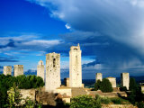 Towers of San Gimignano From Rocca (Town Fortress), San Gimignano, Italy Photographic Print by Martin Moos