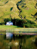Benbaun Mountain and House Beside Kylemore Lake, Connemara National Park, Connemara, Ireland Photographic Print by Richard Cummins