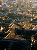 Naxi Architecture on Roofs of Old Town, Lijiang, China Photographic Print by Greg Elms
