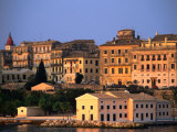 Exterior of Apartment Buildings, Corfu Town, Greece Photographic Print by John Elk III