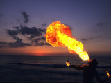 Fireeater at Sunset, Jamaica Photographic Print by Holger Leue