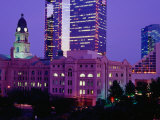The Tarrant County Courthouse Contrasts Against High-Rise Buildings, Fort Worth, USA Photographic Print by Richard Cummins