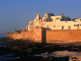 Old Waterfront City Behind Ramparts, Essaouira, Morocco Photographic Print by John Elk III