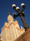 Moscow State University with Lamp-Post in Foreground, Moscow, Russia Photographic Print by Jonathan Smith