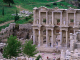 Overhead of Library of Celcus, Ephesus, Turkey Photographic Print by Philip Smith