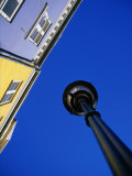 Street Lamp and Houses at Nyhavn, Copenhagen, Denmark Photographic Print by Martin Lladó