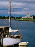 Yacht and Dinghy Moored at Kinvara Pier, Kinvara, Ireland Photographic Print by Richard Cummins
