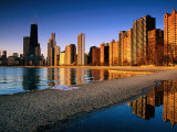 City Skyline from North Avenue Beach, Chicago, United States of America Photographic Print by Richard Cummins