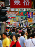 Street Crowd at Mong Kok, Kowloon, China Photographic Print by Greg Elms