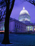 State Capitol Building at Dusk, Madison, United States of America Photographic Print by Richard Cummins