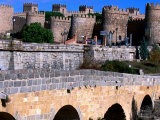 Alcazar and Stone Bridges, Avila, Spain Photographic Print by John Banagan