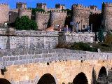 Alcazar and Stone Bridges, Avila, Spain Photographic Print by John Banagan