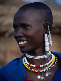 Portrait of a Maasai Woman, Lake Manyara National Park, Tanzania Fotografie-Druck von Ariadne Van Zandbergen