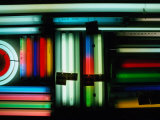 Coloured Fluorescent Tubes for Sale at Akihabara, Honshu, Tokyo, Japan Photographic Print by Richard I'Anson