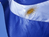 Argentine Flag, Plaza De Mayo, Buenos Aires, Argentina Photographic Print by Holger Leue