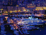 Port of Monaco at Dusk, Monaco Ville, Monaco Photographic Print by Richard I'Anson